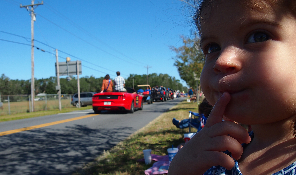 Spectating at Homecoming parade in Keystone Heights