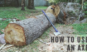 How To Chop Wood With An Axe