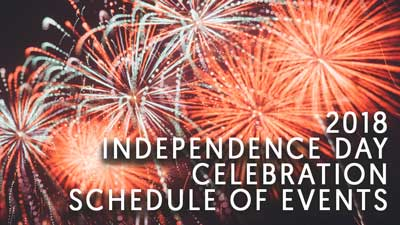 Fourth of July in Keystone Heights, Fireworks, schedule of events