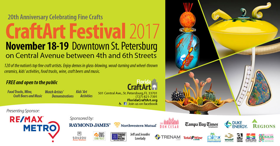 flyer for Saint Petersburg CraftArt festival 2018