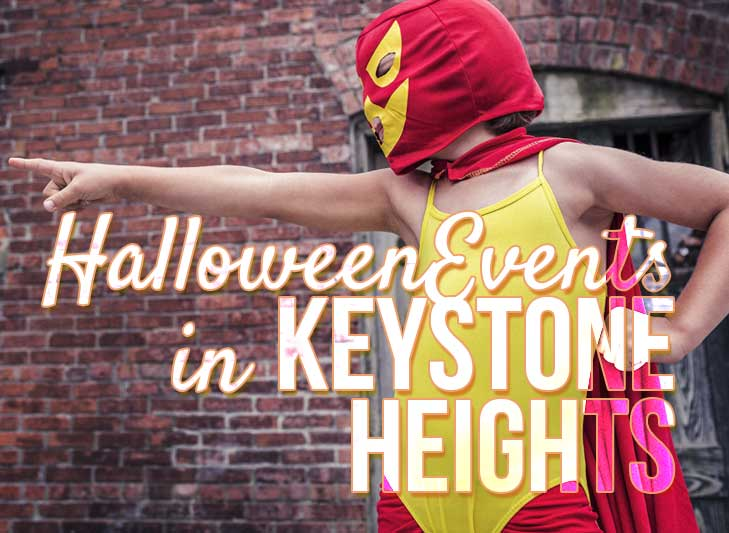 kid in costume for halloween in keystone heights