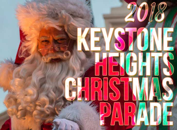 Santa in christmas parade at keystone heights florida 2018