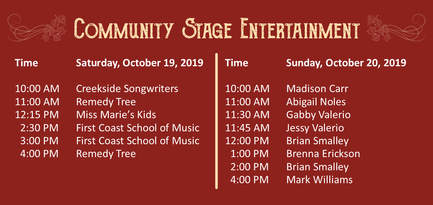 Orange Park Fall Festival Community Stage Entertainment